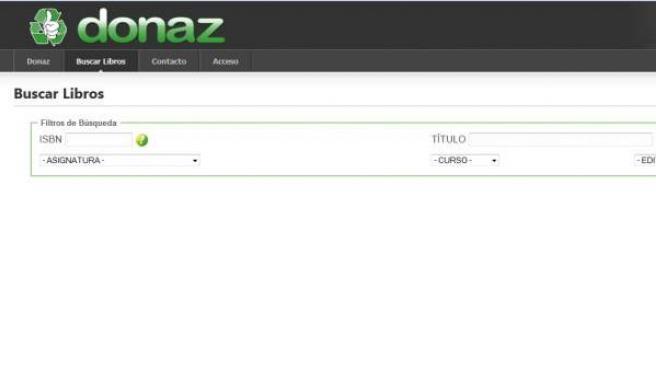 Imagen del buscador de la página web con el que puedes localizar los libros que necesitas.