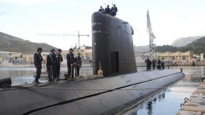 Imagen de archivo de un submarino.