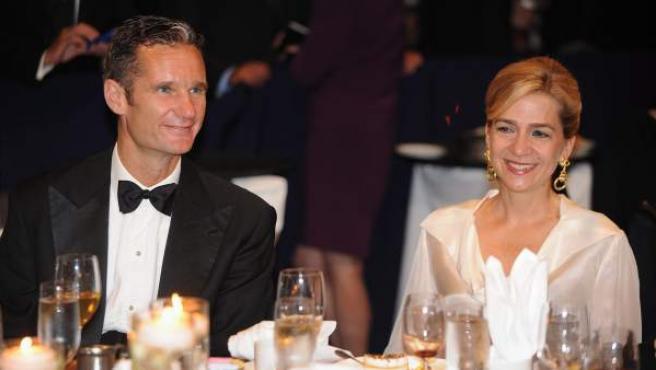 La infanta Cristina y su esposo, Iñaki Urdangarin, el pasado 14 de septiembre de 2011, durante un evento del Hispanic Heritage en Washington (EEUU).