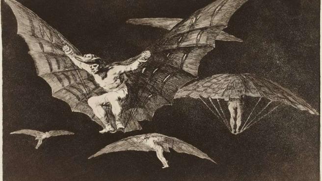 Grabado de la serie de Goya 'Disparates' (También llamada 'Proverbios'), realizada entre 1815 y 1823