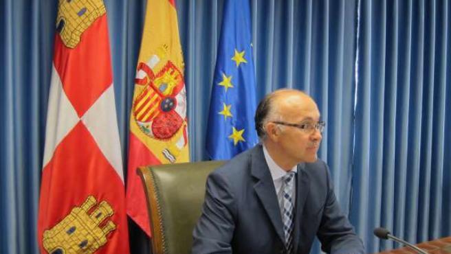El delegado del Gobierno en Castilla y León en la rueda de prensa
