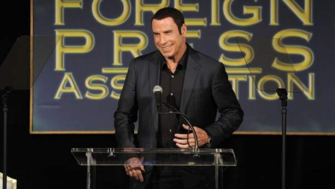 El actor John Travolta durante un evento de la Hollywood Foreign Press Association.
