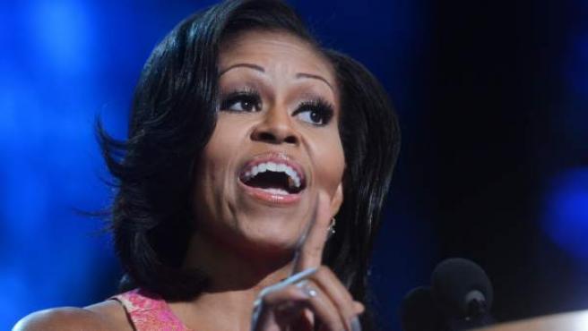 Michelle Obama, en su discurso en la convención de Charlotte.