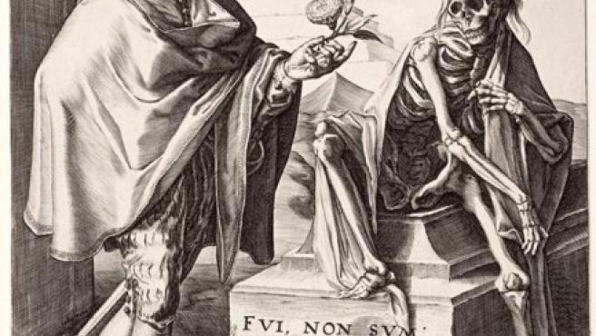 'Muerte sorprendiendo a un hombre joven' (1592), de Jan Saenredam, grabador holandés