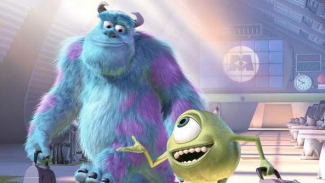 Mike y Sulley, los protagonistas de 'Monstruos S.A.'.