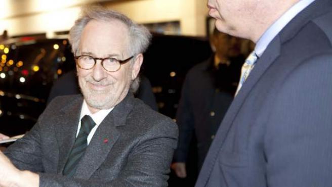 El cineasta Steven Spielberg, durante un acto promocional.
