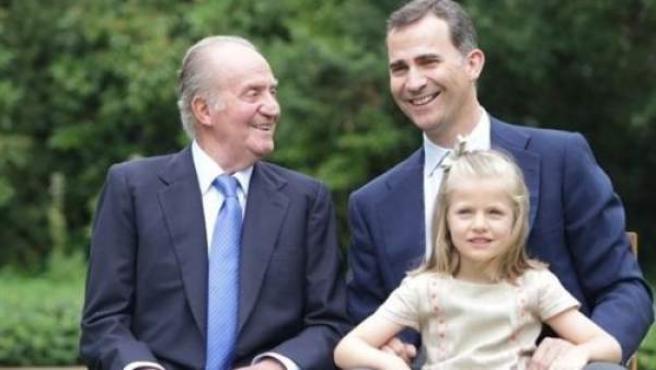 La imagen que encabeza la nueva página web oficial de la Casa Real.