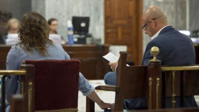 Fernando Torres Baena, el principal imputado en el conocido como caso 'Kárate', durante una sesión del juicio.