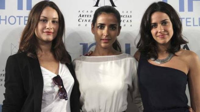 Las actrices Aida Folch, Inma Cuesta y Macarena García, de izda. a dcha.