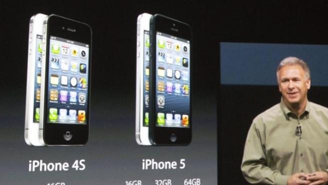 Philip Schiller, vicepresidente de Apple, en la presentación mundial del nuevo iPhone 5.