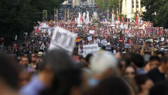 Manifestación en Madrid contra los ajustes del gobierno