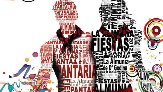 Cartel anunciador de las fiestas de La Almunia