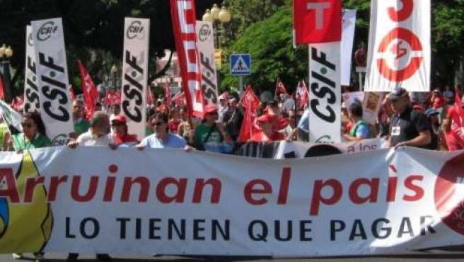 Manifestación del 15S en Las Palmas de Gran Canaria