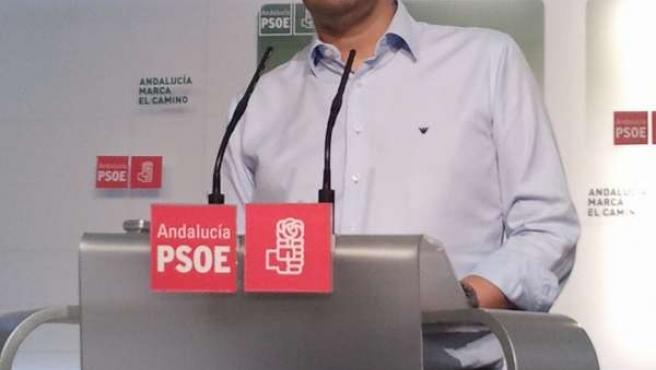 El Vicesecretario General Del PSOE-A, Mario Jiménez, Hoy En Rueda De Prensa