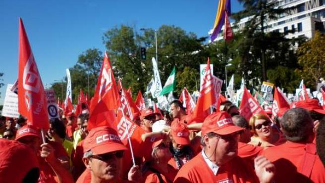 Cántabros en la manifestación del 15-S
