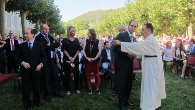 Diego en la misa campestre en honor a la Virgen Bien Aparecida