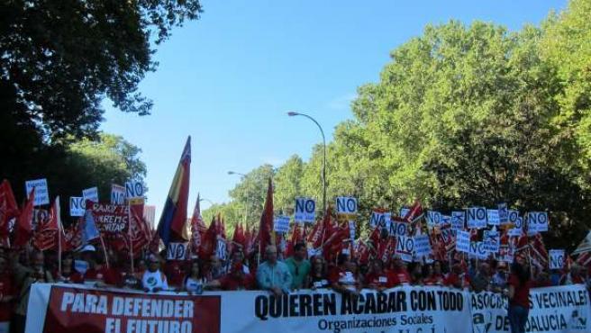 Cabecera andaluza en Madrid el 15-S