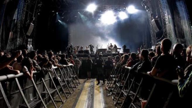 Sigur Ros, durante su actuación en Dcode 2012.