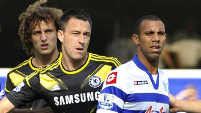 John Terry y Anton Ferdinand, durante el Chelsea - QPR tras su juicio por supuestos insultos racistas.