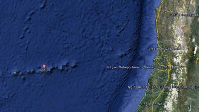 El archipiélago Juan Fernández, en el que está la isla de Robinson Crusoe, a unos 670 kilómetros de la costa de Chile.