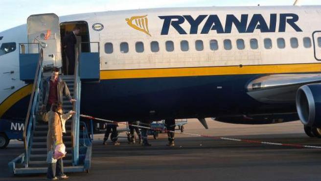 Imagen de archivo de un avión de la compañía Ryanair.