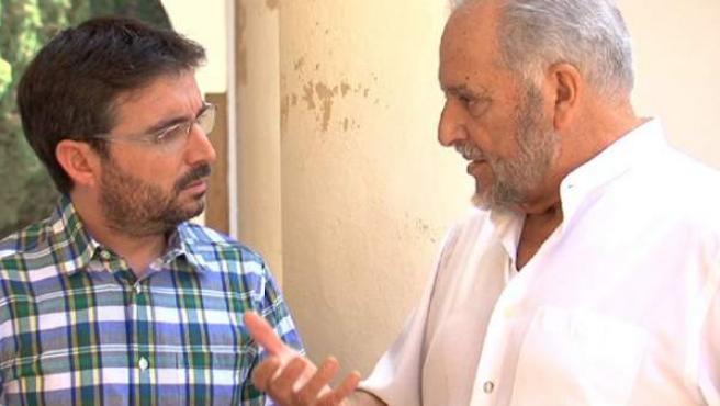 Jordi Évole entrevista a Julio Anguita en 'Salvados'.