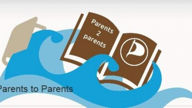 Imagen del logotipo de la web de enlaces para descargar libros y material didáctico 'Parents to Parents'.