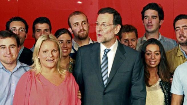 Mariano Rajoy, durante la cita este martes con las víctimas del terrorismo.