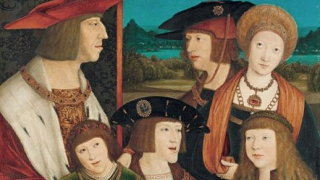 El emperador Maximiliano I y su familia retratados entre 1515 y 1520