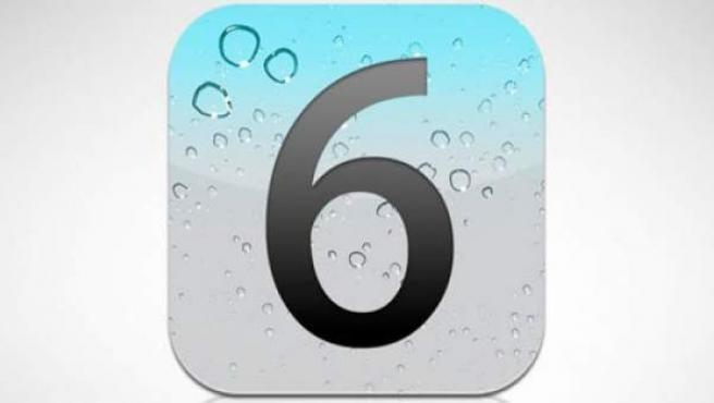 Imagen del logo del nuevo sistema de Apple para dispositivos móviles, el iOS 6.
