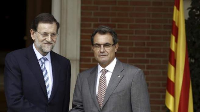 El presidente del Gobierno, Mariano Rajoy, y el presidente de la Generalitat catalana, Artur Mas.