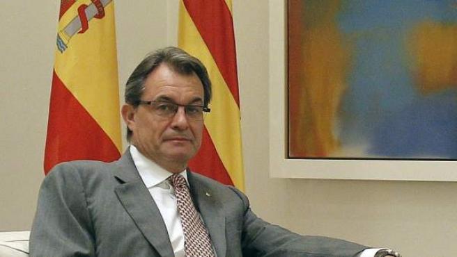 El presidente de Cataluña, Artur Mas, en el Palacio de la Moncloa.