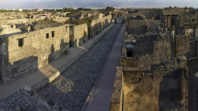 Fotografía cedida por el Museo Británico en la que se aprecian restos de la ciudad romana de Pompeya.