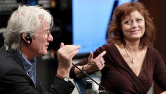 Susan Sarandon y Richard Gere intervienen en la jornada de apertura del Festival de Cine de San Sebastián 2012.
