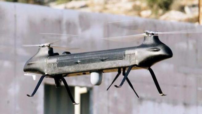 Imagen cedida por el fabricante Israel Aerospace Industries (IAI) del Ghost, la aeronave no tripulada de cuatro kilos de peso, diseñada para la recolección de información en tiempo real en zonas urbanas.