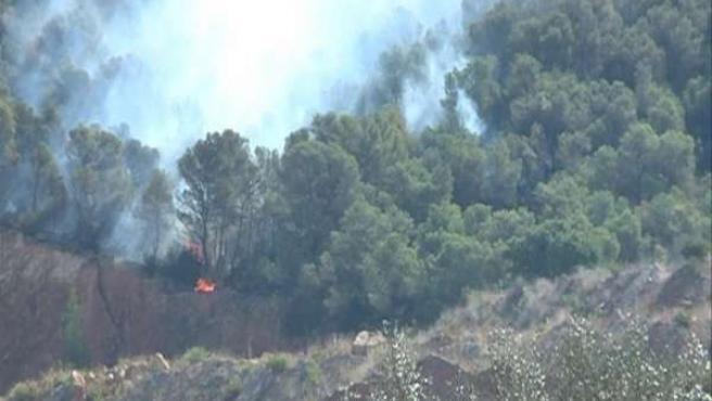 Imagen Del Incendio De Chulilla (Valencia)