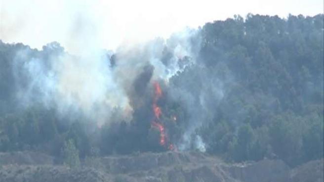 Incendio En El Término Municipal De Chulilla