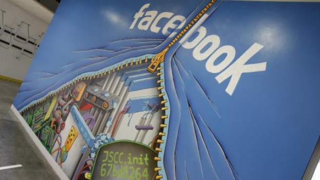 Logotipo de la popular red social de Facebook.