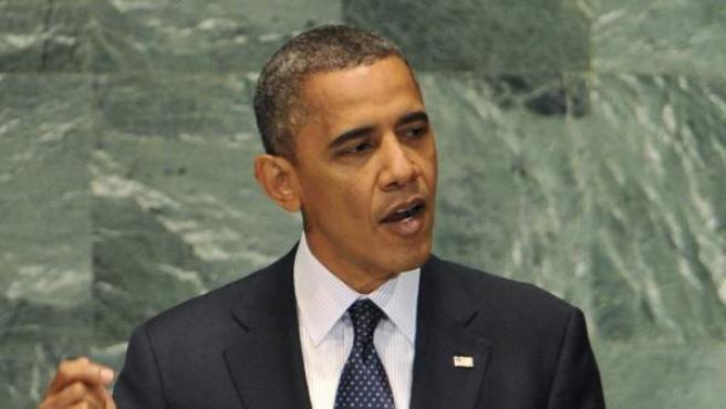 El presidente de Estados Unidos, Barack Obama, durante un discurso en una imagen de archivo.