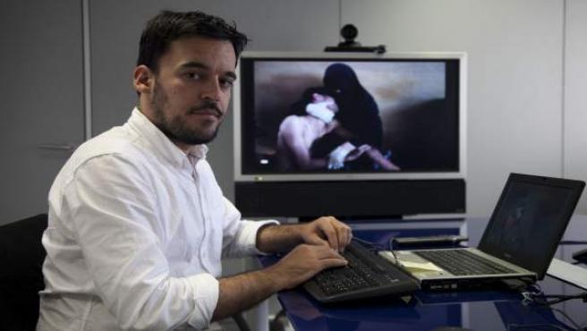Samuel Aranda en una visita a 20minutos.es.