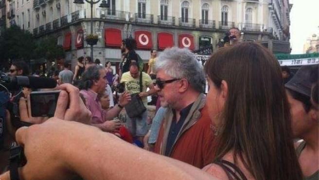 Pedro Almodóvar en un acto público