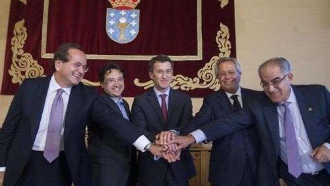 Feijóo firma el acuerdo con Pemex (19 septiembre 2012)