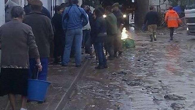 Una de las zonas afectadas por las lluvias en Málaga