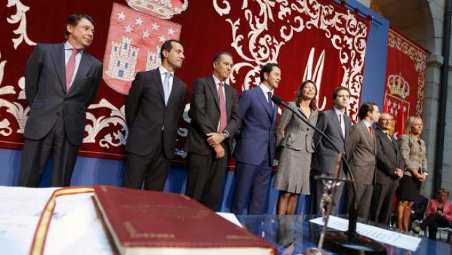 De izquierda a derecha, González, Victoria, Ossorio, Cavero, Figar, Sarasola, Lasquetty, Fermosel y Mariño.
