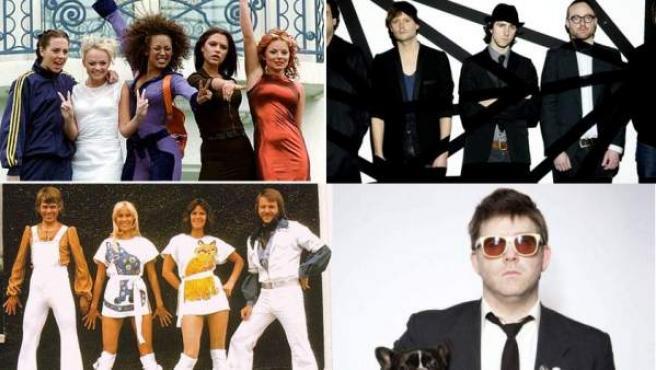 Spice Girls, Maximo Park, ABBA y LCD Soundsystem: responsables de levantar ánimos.