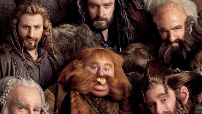 El cartel promocional de 'El Hobbit: un viaje inesperado'.