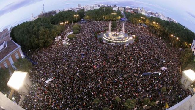 Neptuno, colapsada por miles de manifestantes el 29-S.