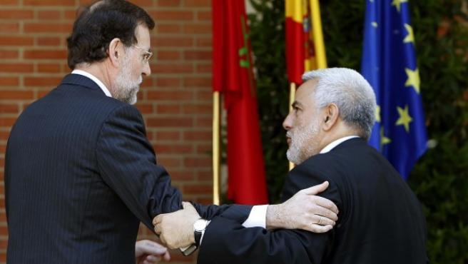 El presidente del Gobierno, Mariano Rajoy, y su homólogo marroquí, Abdelilah Benkirán.