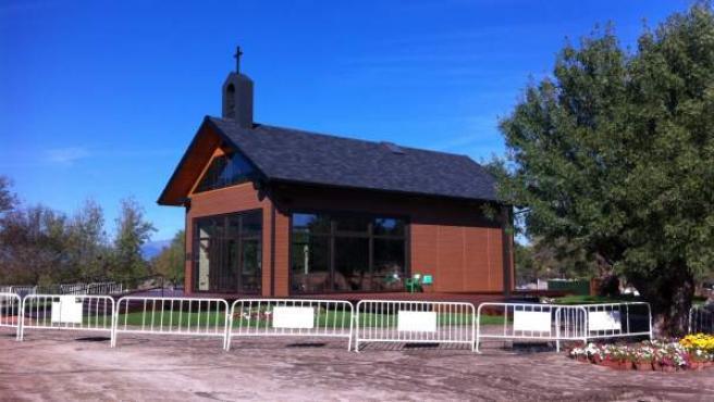 La capilla construida en honor a la vidente en Prado Nuevo.