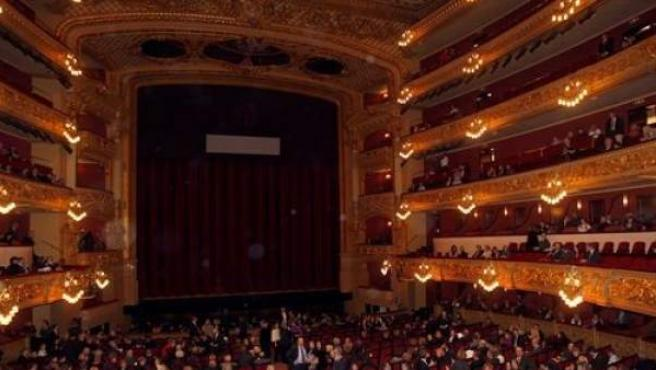 Imagen del gran teatro del Liceu de Barcelona.